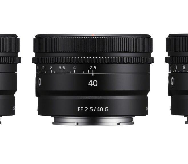 Pre-order Now: Sony FE 24mm f/2.8 G, FE 40mm f/2.5 G & FE 50mm f/2.5 G Lenses
