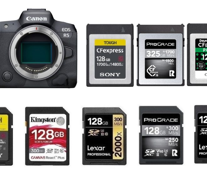 Best Memory Cards for Canon EOS R5