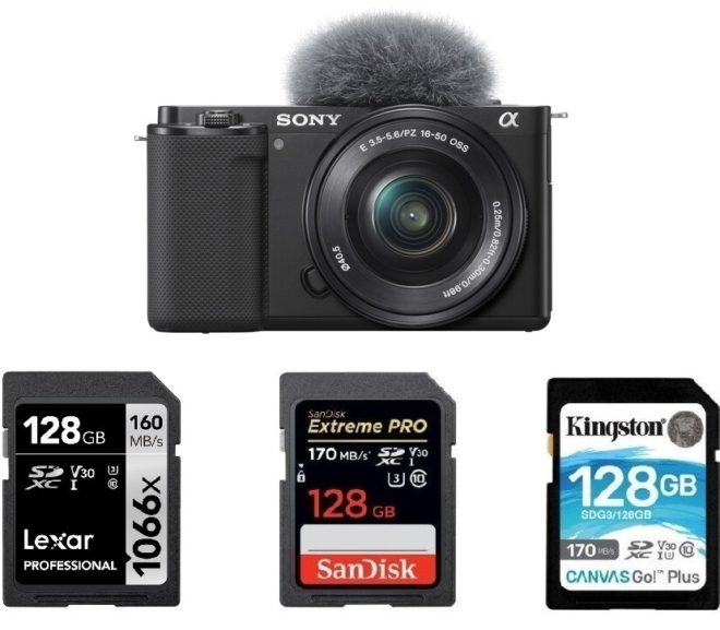 Best Memory Cards for Sony ZV-E10