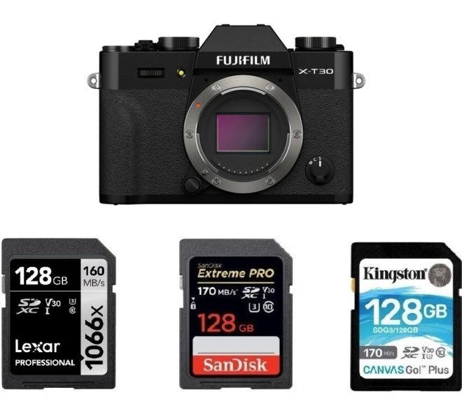 Best Memory Cards for Fujifilm X-T30 II